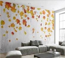 Большие Настенные обои на заказ 8d фотообои осенние листья кленовый