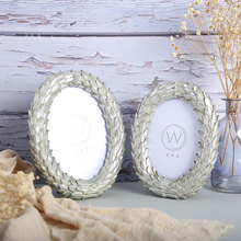6 Inch Golden Silver Oval Photo Frame Resin Home Table Pendant Decoration Modern Simple Portrait Picture Frame