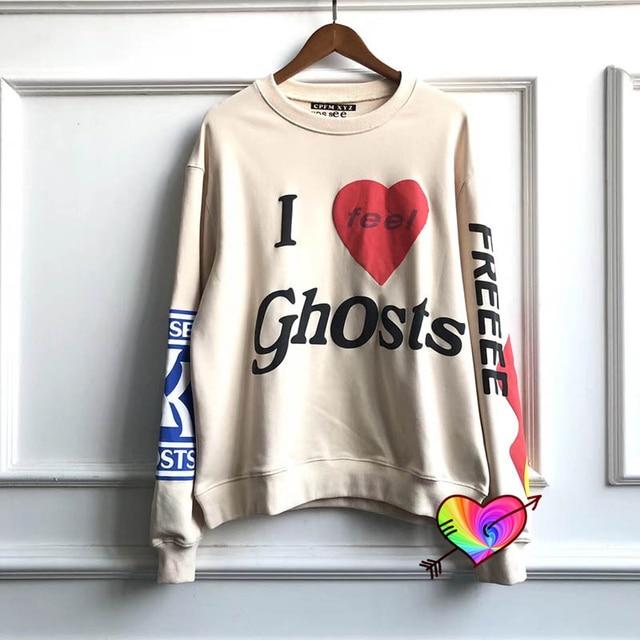 Kanye & CuDi I Feel Ghost CPFM Sweatshirt Collar Tag 1