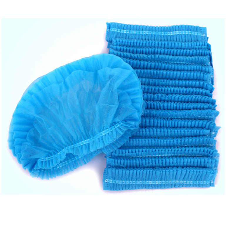 New10PCS Non-woven Einweg Dusche Caps Plissee Anti Staub Hut Frauen Männer Bad Caps für Spa Haar Salon Schönheit zubehör