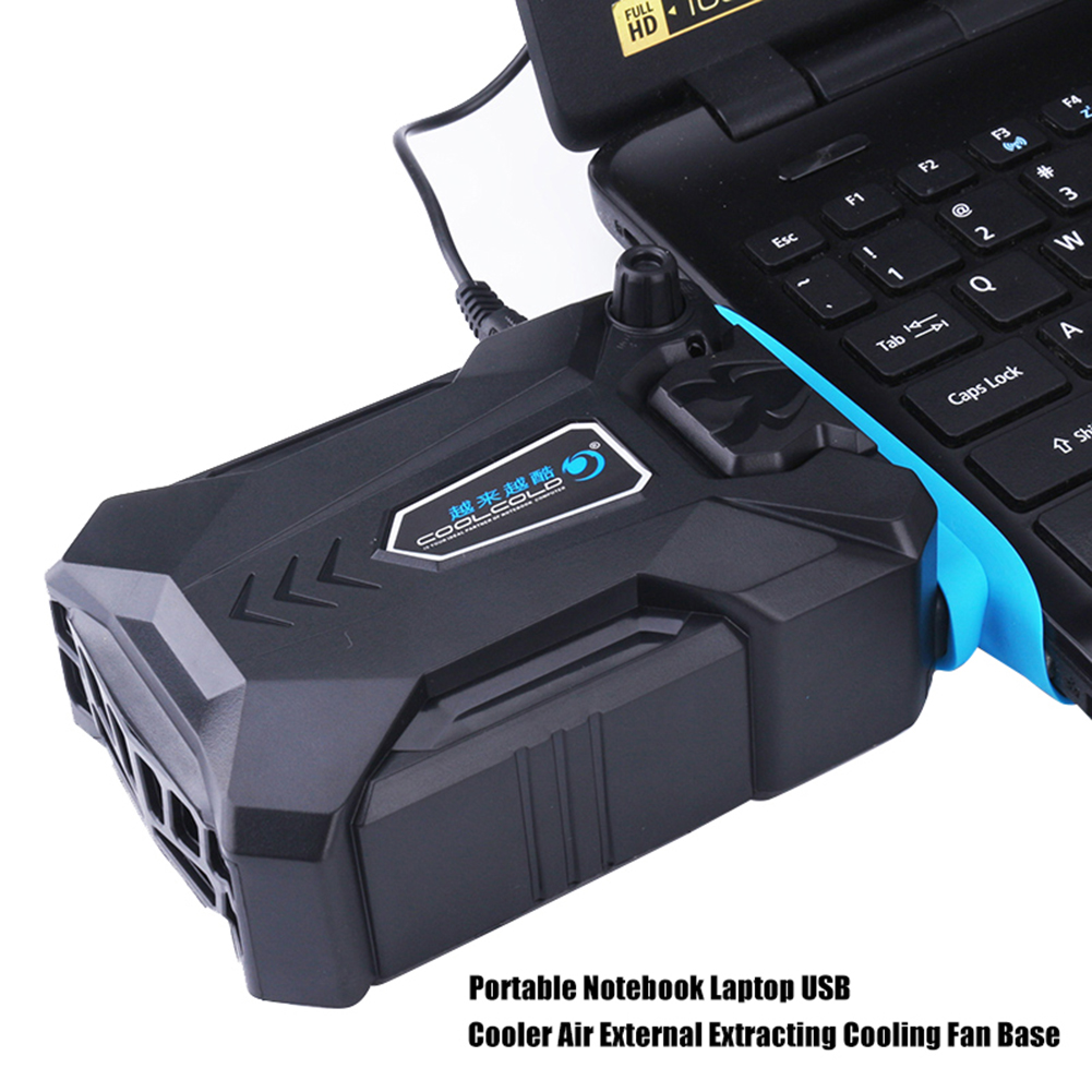 Portable External Vacuum Notebook Laptop Cooler USB Air Extracting Cooling Fan