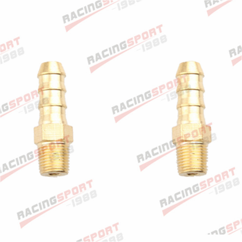 "2PCS 4mm Male Brass Hose Barbs Barb To 1//8/"" NPT Pipe Male Thread"