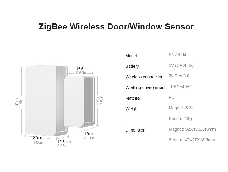 He347a36736e2483d9027e053f261792cw - SONOFF ZigBee Bridge Wireless Door/Window Sensor Alert Notification Via EWeLink APP Control Smart Home Security Switch