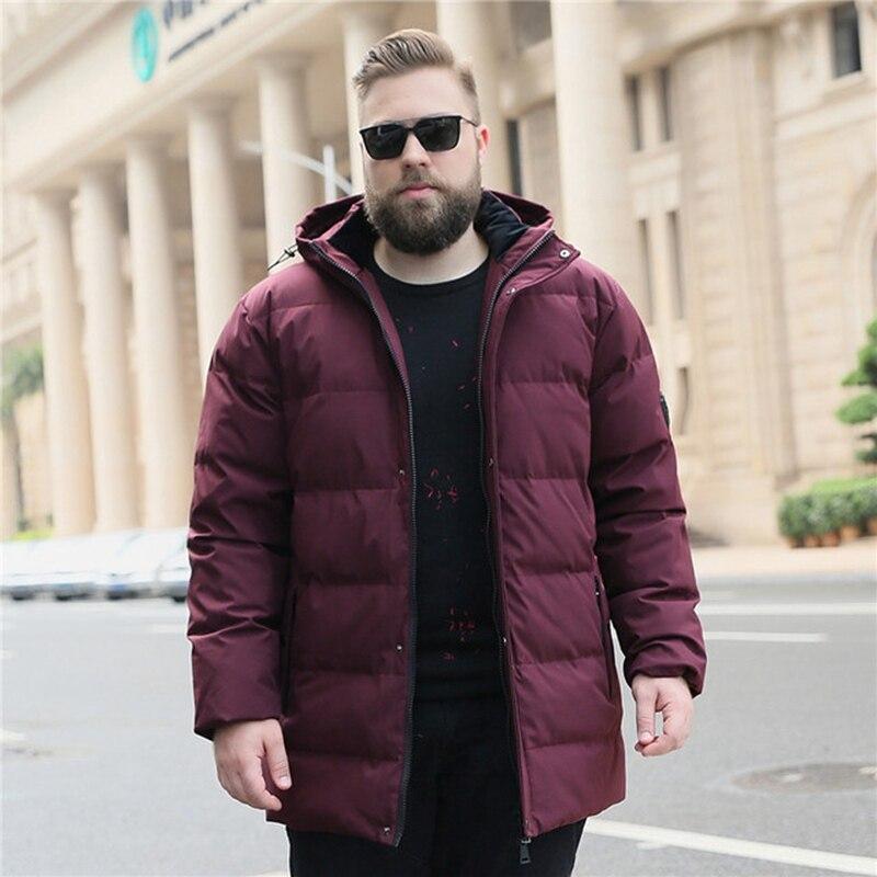 Hiver hommes col extra large doudoune veste d'hiver 150kg plus engrais plus à capuche chaud doudoune 10xl marée fa