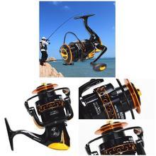 купить Yumoshi  12bb 5.5:1 High Quality Spinning Fishing Reels Salt Water Fishing Reel Molinete Feeder Carretilha de pesca по цене 1023.21 рублей