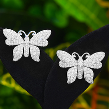 GODK Bohemian Butterfly STUD ต่างหูสำหรับผู้หญิงอุปกรณ์เสริม Cubic Zircon ต่างหู pendientes mujer Moda 2020