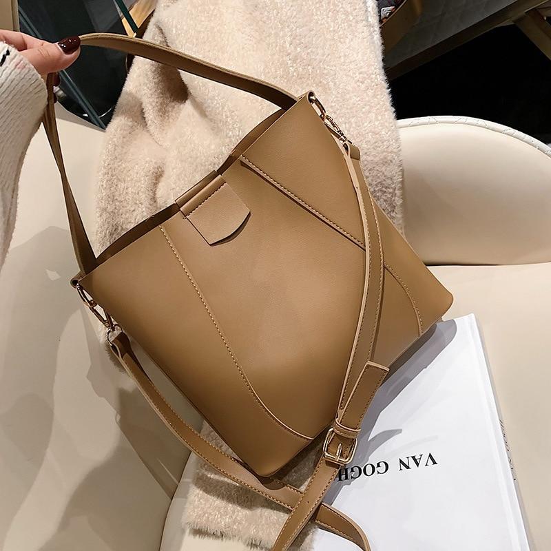 Fall/winter Bucket Bag Women's Bag New Fashion Large Capacity Handbag Shoulder Slung Bag