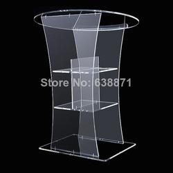 Darmowa wysyłka wysokiej jakości nowoczesny Design wysokiej lucency duży akrylowy mównica/Podium w Biurka do recepcji od Meble na