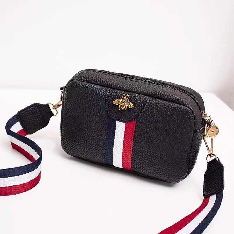 รูปสี่เหลี่ยมผืนผ้าแบบสบายๆมินิกระเป๋าแบบพกพากระเป๋าหนัง PU ใหม่กระเป๋าถือ Crossbody กระเป๋า