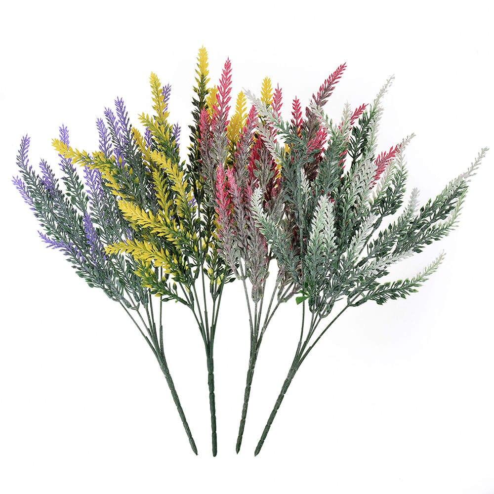 1 Bunch 25 Cabang Plastik Buatan Tanaman Bunga Lavender Buket Untuk Pesta Pernikahan Rumah Dekorasi Diy Wreath Scrapbook Kerajinan Buatan Bunga Kering Aliexpress