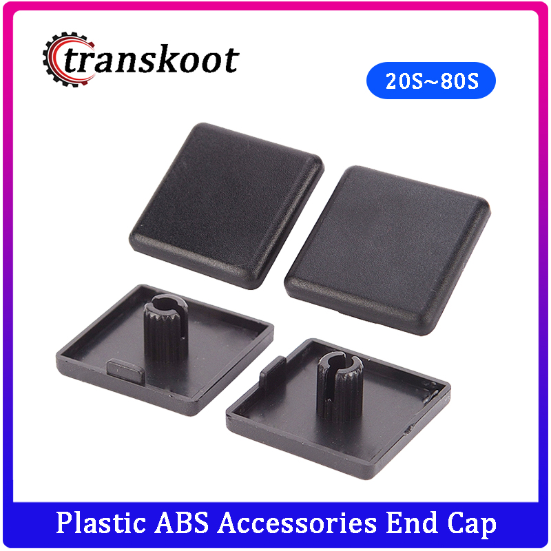 2020 3030 4040 4545 6060 <font><b>8080</b></font> Black Plastic ABS Accessories End Cap Cover for Aluminum Profilfe <font><b>Extrusion</b></font> image