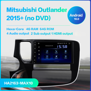 "Image 2 - Dasaita 8 ""1 Din Android 10.0 araba radyo çalar için Mitsubishi Outlander 2015 2016 2017 navigasyon GPS 12V 4GB RAM HDMI MAX10"