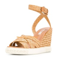 Wedges Platform Sandals Casual Ladies Summer Shoes Ankle Buckle Open Toe Weave Women Shoes Heel 8 cm Comfortable Shoes