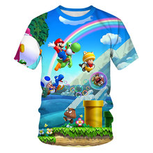 Summer New Men's and Women's T-shirt 3D Printing Animation Fashion Children's Cartoon Casual Short-sleeved Top