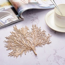 Simulation Coral Table Pad Coasters Home Decor Placemat Table Mat Branch Pvc Decorative Heat-resistant Non Slip Pads Table Mats placemat dining table coasters simulation leaf plant pvc cup western food insulation pad table mats kitchen christmas home decor
