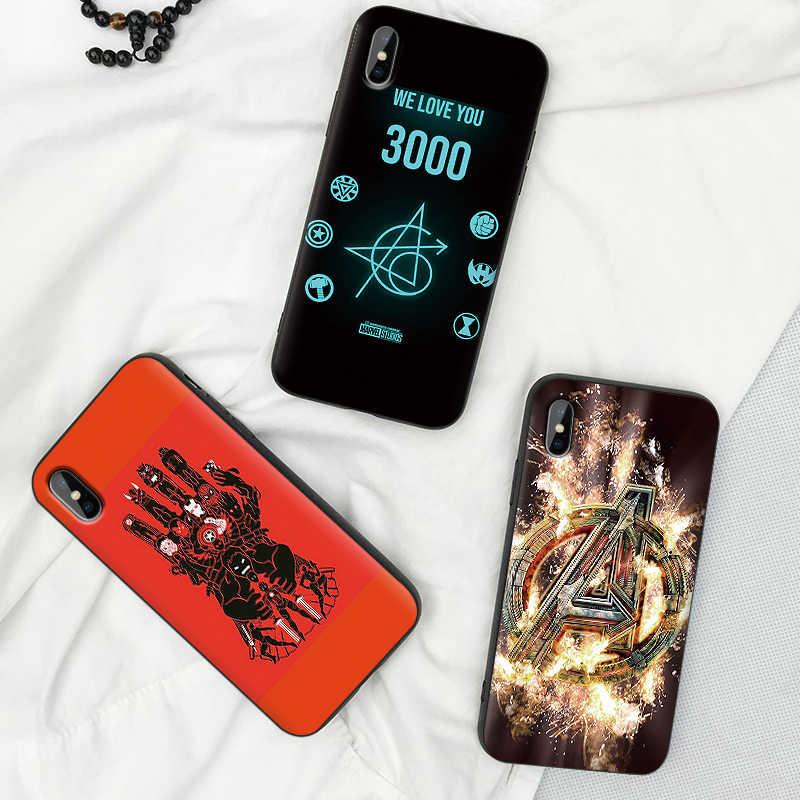 Marvel los Vengadores fundas de teléfono móvil para iPhone X XS MAX XR 6 s 7 8 Plus funda de moda suave funda trasera de silicona