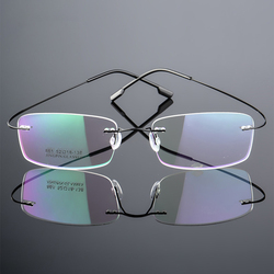 1PC Memory Titanium Magnetic Reading Glasses Men Women Flexible Ultralight Rimless Vision Care Eyewear Presbyopic Eyeglass