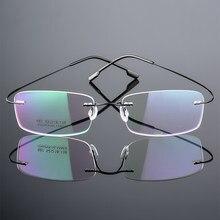 Masculino feminino sem aro óculos de leitura memória titânio claro óculos presbiopia magnética + 1.0 + 1.5 2.0 + 2.5 + 3.0 + 3.5