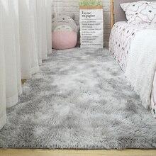 Ковер для гостиной, прикроватный коврик для спальни, простой современный серый домашний Коврик для пола, мягкое кожаное одеяло для многозонного использования