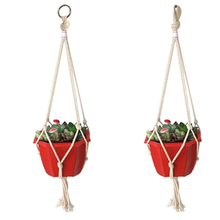 3 стиля винтаж макраме растения вешалка крючок цветок горшок держатель 4 ножки веревка подвес веревка стена искусство дом сад балкон украшение