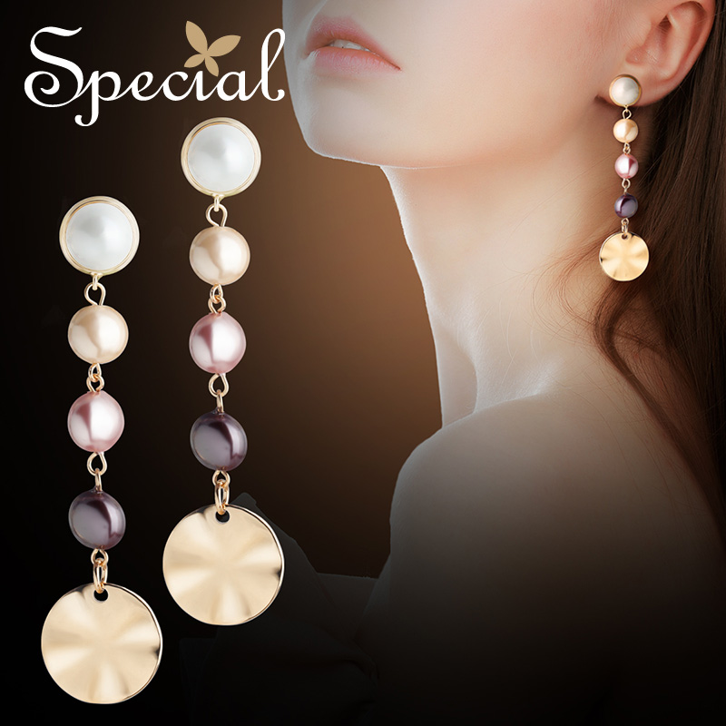 SPECIAL European and American retro line skin <font><b>show</b></font> face thin earrings high cool earrings temperament elegant earrings on <font><b>tonight</b></font> image