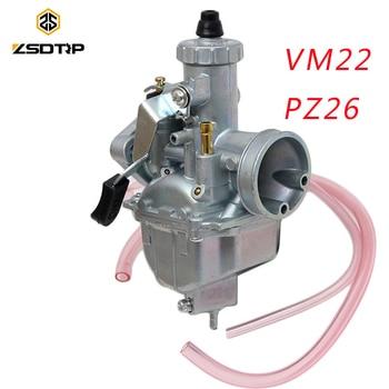 ZSDTRP PZ26 26mm VM22 Dirt Bike Pit Bike Mikuni VM22 carburador rendimiento para 125 140cc motor Horizontal