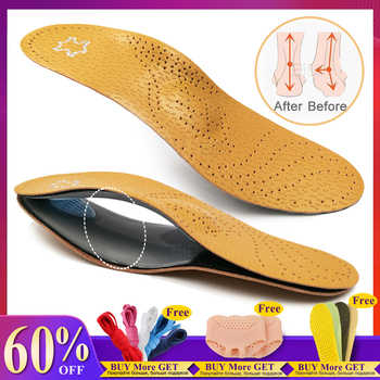 EiD Leather orthotic insole for Flat Feet Arch Support orthopedic shoes sole Insoles for feet men women O/X Leg corrected Unisex eid high quality leather orthotic insole for flat feet arch support orthopedic shoes sole insoles for feet men and women ox leg