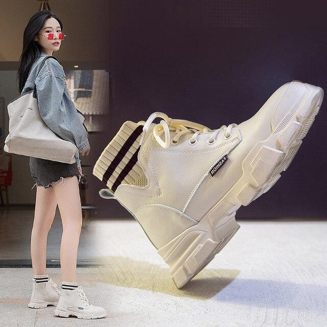 Giày Nữ Giày Nữ Người Phụ Nữ Zapatillas Mujer Cổ Mùa Đông Giày Boot Nữ Cao Cấp Hàng Đầu Bông Ấm Áp Giày Ngoài Trời Zapatos De Mujer Ren P
