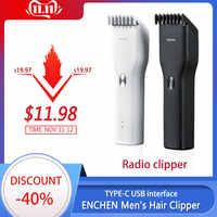 XiaoMi ENCHEN Männer der Elektrische Haar Clippers Clippers Cordless Clippers Erwachsene Rasierer Professionelle Trimmer Ecke Rasiermesser Hairdresse