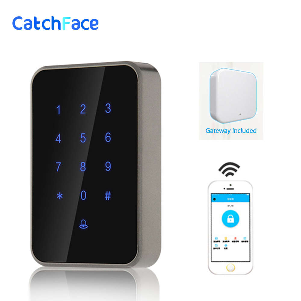 Long Rnage Control Bluetooth Wifi Digital Lock Access Control Reader Electronic Smart Door Lock Glass Door Safe Lock For Office