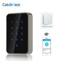 Long Rnage Control Bluetooth Wifi Digital Lock Access control reader Electronic Smart Door Lock Glass door Safe lock For Office|Access Control Keypads|   -