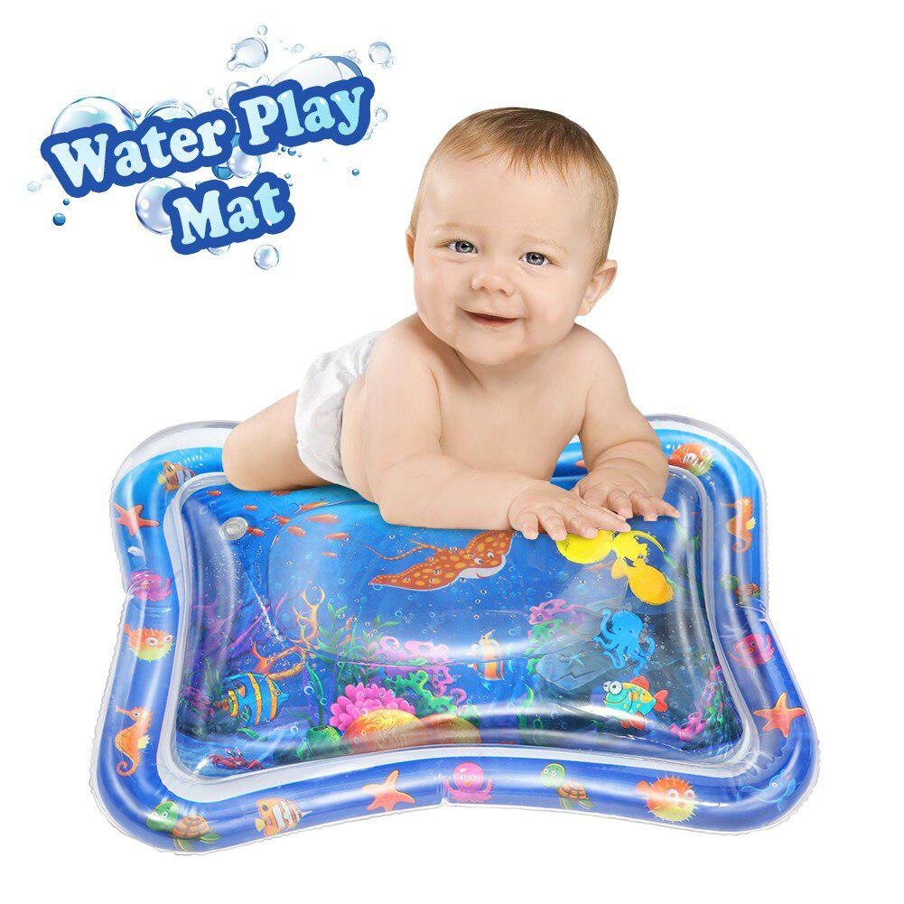None Baby Inflatable Water Play Mat Indoor Outdoor Pad Babies  Great Tummy Time Activity Movement Motor Easy Inflate Toys