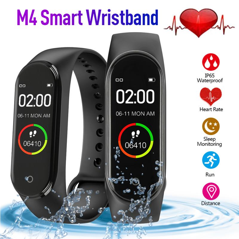 M4 Smart Pedometer Wristband Blood Pressure Heart Rate Monitor Sports Tracker Bracelet Health Fitness Bracelet  Sport Pedometer