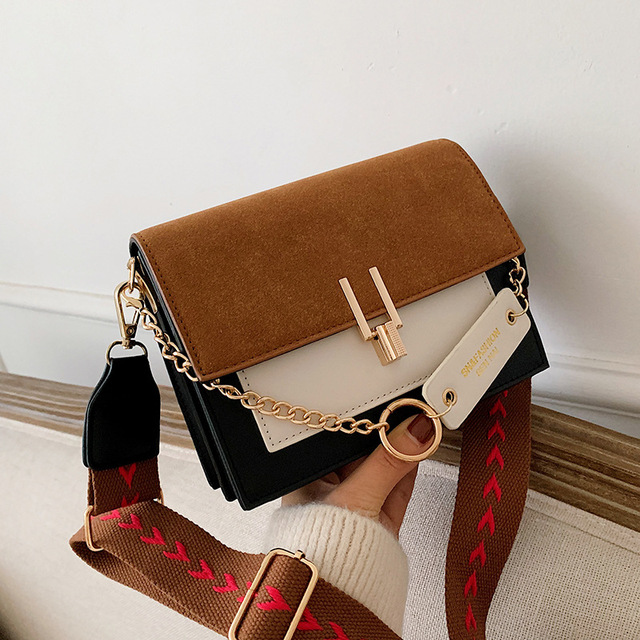 2020 luxus Handtaschen Vintage Kleine PU Leder Umhängetaschen Für Frauen Schulter Messenger Taschen Kette Designer Weibliche Klappen Geldbörse