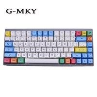 G MKY Dye Subtion Keycaps SA Chalk Colorway Keycap SA PBT SA Profile For Mechanical Gaming Keyboard