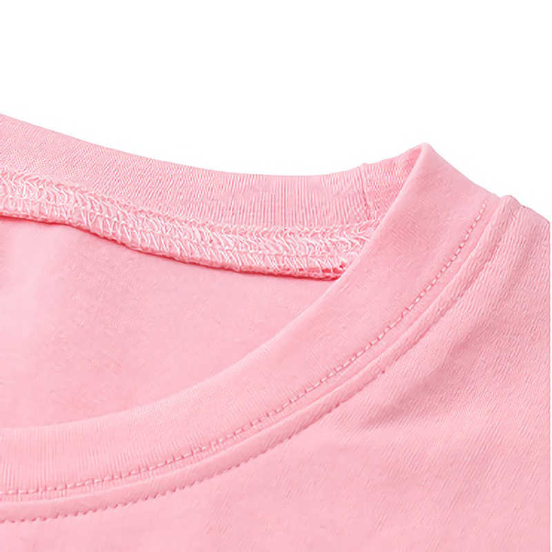 돈을 버리지 마라. 검은 색 소녀 티셔츠 여성 하라주쿠 빈 티셔츠, 여성용 패션 티셔츠 핑크 탑스 티셔츠