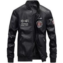 Autumn Men Leather Biker Fake Jacket PU Thick Pu Pattern Mens Jackets Coats Motorcycle MOOWNUC