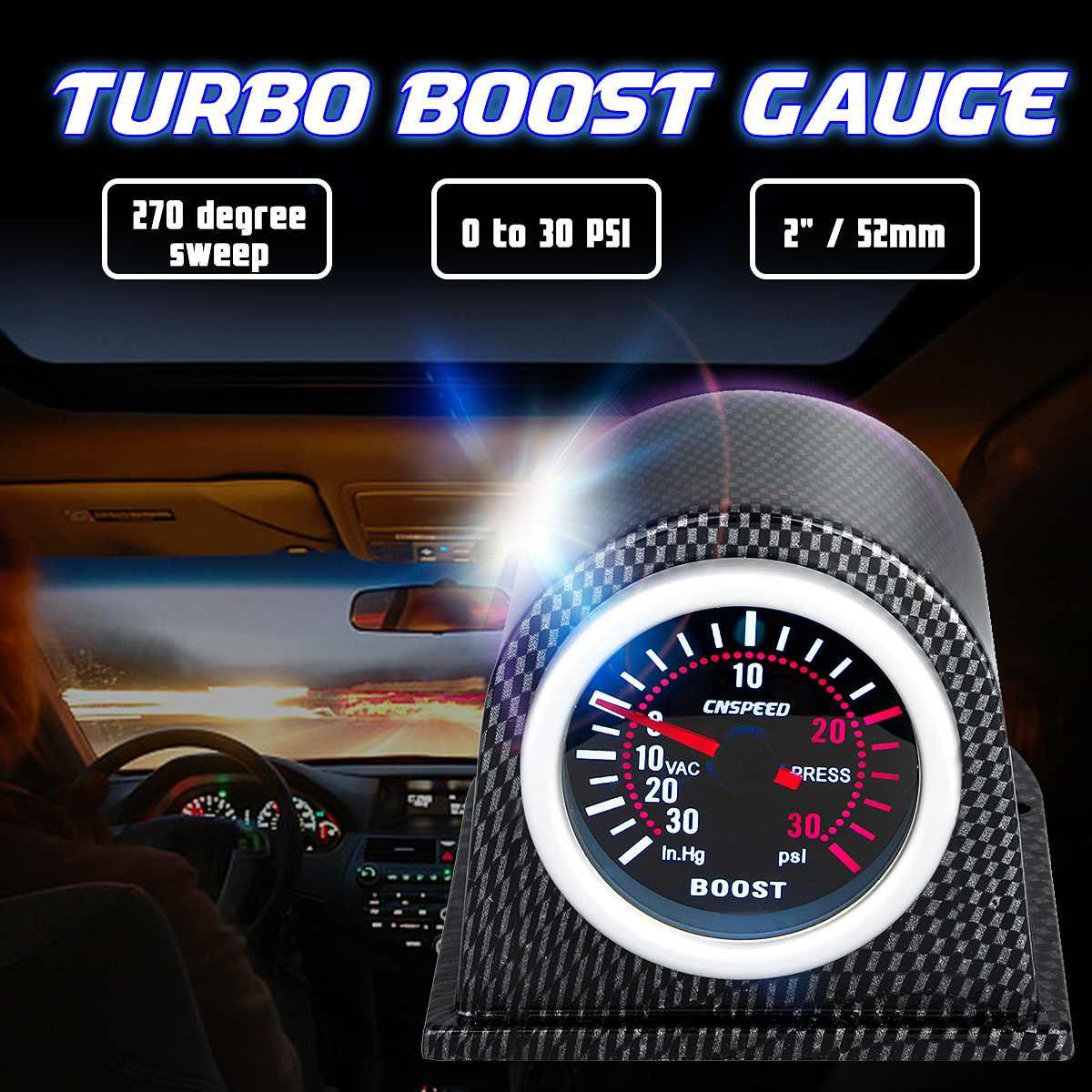 Car Gauge Boost Set Smoke Meter Auto Turbo Bar 52mm Digital Durable New