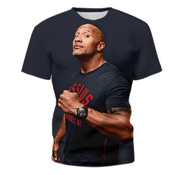 One piece Dwayne Johnson Bull t shirt for Men Wrestlig Goth style t shirt Casual 3D printing short-s