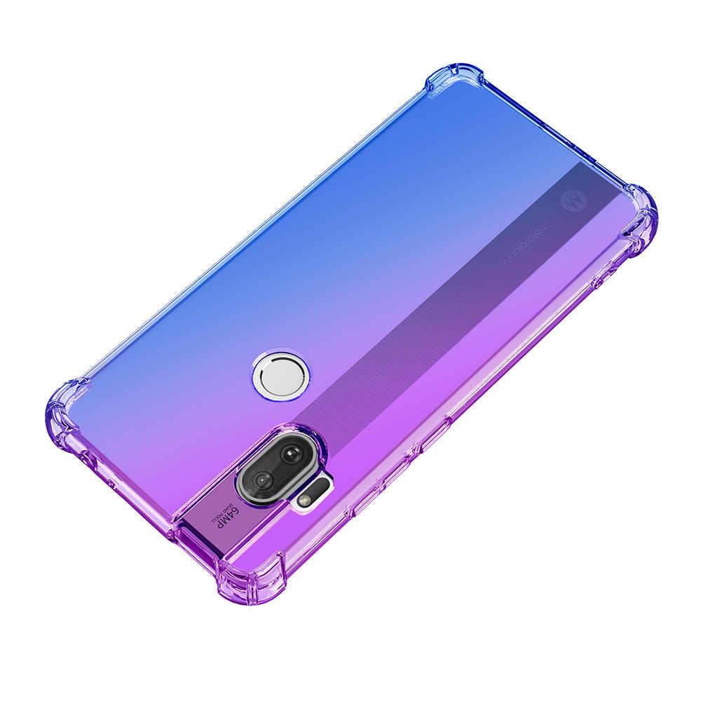 Carcasa con degradado transparente para Motorola Moto One Hyper MACRO Moto G8 Power lite G8 play plus E6 Play Plus, funda trasera para teléfono