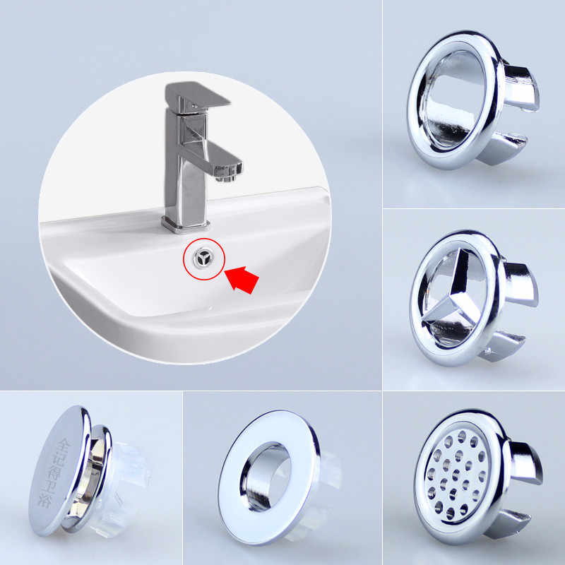 Ceramic Pots basin sink round overflow cover ring Washbasin Outlet Replacement Lavatory Hole decorative cover filter plug