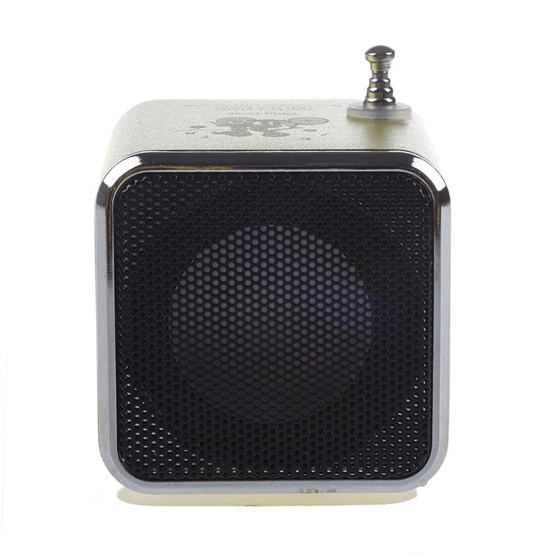 TD-V26 Portable Mini Digital Speaker with Micro-SD / TF / USB /FM (Green)