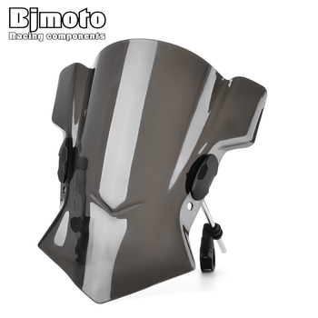 BJMOTO Motorcycle Street Bike S1000R Windshield Windscreen for For BMW R1200RS R1200RT 2015 wind shield For Ducati Diavel 11-15