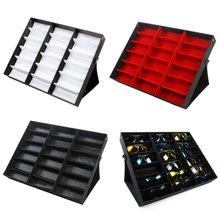 18 Grids Modern Foldable Eyeglass Storage Box Sunglasses Eye Glasses Storage Case Display Stand Holder Case Wardrobe Organizer