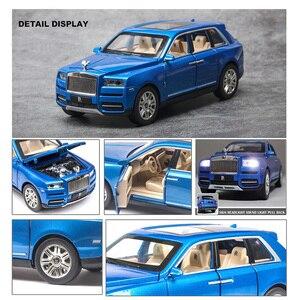 Image 5 - Royce Cullinan modèle de voiture en alliage, modèle de voiture SUV en métal, Simulation de grande taille, son léger, échelle rétractable, miniature