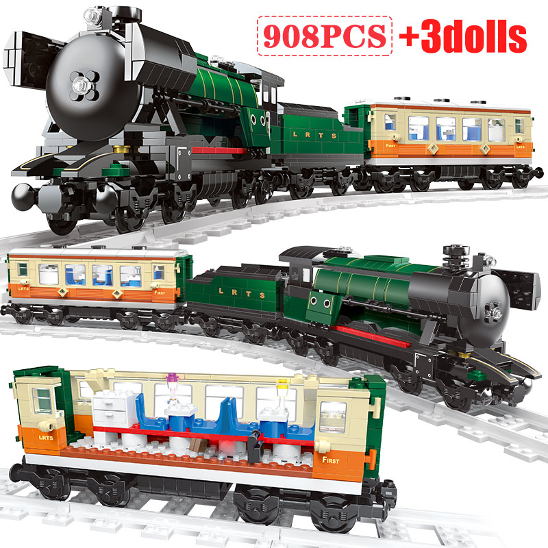 Christmas Railway Dream Train Sets Model Building Blocks Legoingly City Train Track Figures Bricks Educational Toys For Children