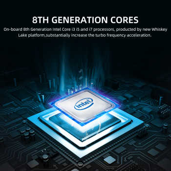 8th Intel Core i3 8145U i5 8265U i7 8565U Mini PC Micro Desktop Computer 4K UHD TV Box DDR4 M2 SSD NVME PCIE DP HDMI USB BT WiFi