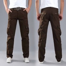FALIZA Men's Cargo Trousers Multi Pockets Military Style Tac