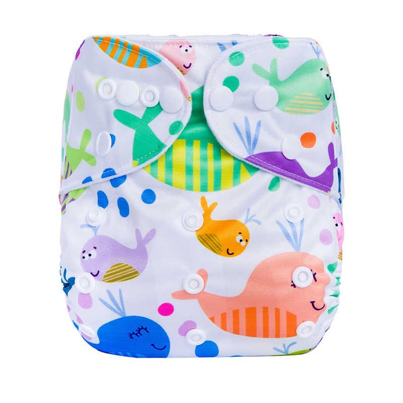 조정 가능한 디지털 인쇄 아기 주머니 천 기저귀 에코-친화적 인 만화 기저귀 방수 유아 아기 훈련 바지