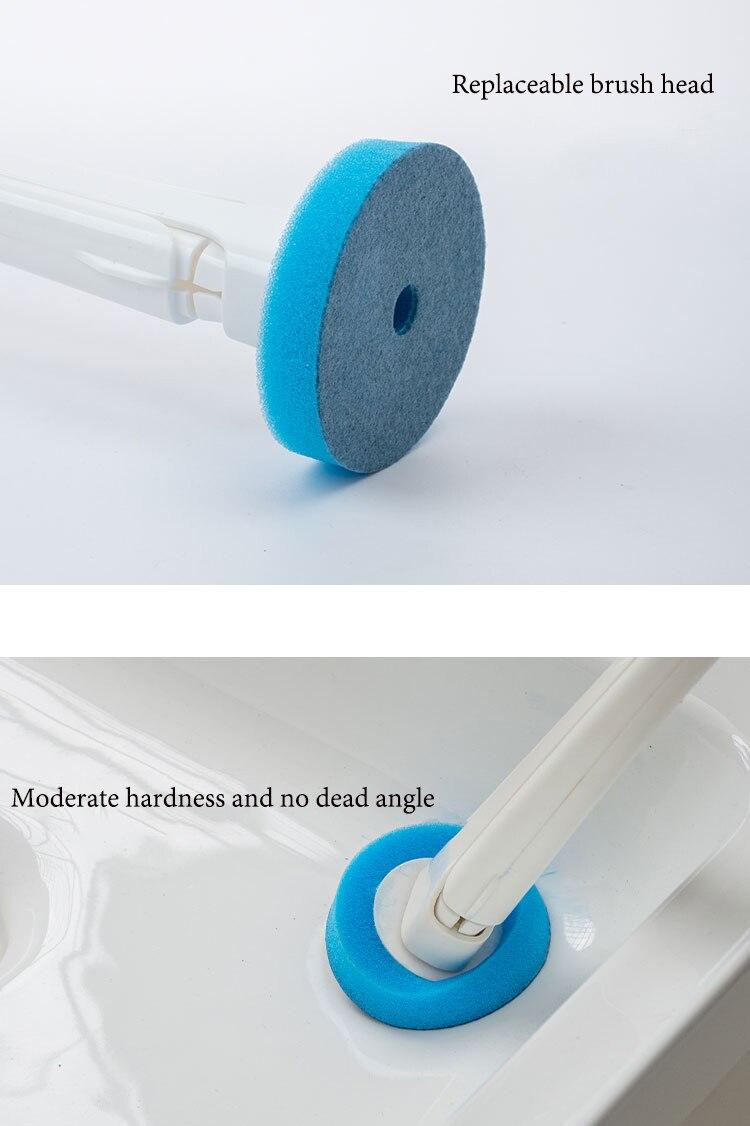 escova de toalete doméstico descartável alça longa